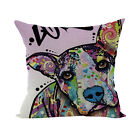 Watercolor Painting Cotton Linen Throw Cushion Cover Soft Pillow Case Home Decor