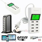 Multi Port Universal USB Travel Wall Charger Power Adapter for iPhone& Android