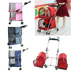 Внешний вид - Pet Stroller Simple Dog Cat Double Deck Carrier Practical Buggy Breathable Cart