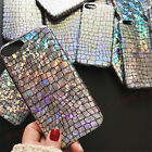 For iPhone 7 6S Plus Girly Bling Sequins AB White Glitter Soft TPU Case Cover