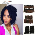 10 Inch Crochet Braids Tapered Cut Sythetic Ombre Crochet Hair Extension