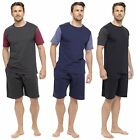 Mens Cotton Jersey T-Shirt & Shorts Pyjama Lounge Set Gents By Tom Franks
