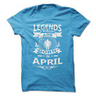 LEGENDS ARE BORN IN APRIL T-Shirt Workout Gym BodyBuilding Weight Lifting c338