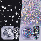 1.5g BORN PRETTY Nail Flakes Sequins Glitter Holographic Silver Mixed Size Tips