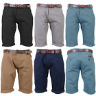 Smith & Jones Mens Designer Inertia Cotton Twill Chino Shorts With Free Belt