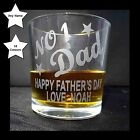 Personalised Whisky Tumbler Glass Fathers Day Present Gift