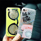 Cute Hot Bling Telephone glasses Liquid Glitter case Cover for iPhone 7 6S Plus