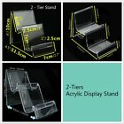 4 x 2-Tiers Clear Acrylic Retail Fashion Shop Display Stand Handbags Purse