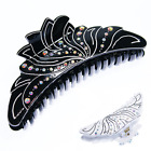 NEW LADIES LARGE WIDE DIAMANTE HAIR CLIP CLAW GRIP BUTTERFLY CLAMP (HC51)