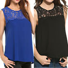 Fashion Women Chiffon Vest Lace Sleeveless Shirt Blouse T-Shirt Casual Tank Tops