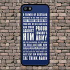 FLOWER OF SCOTLAND RUGBY PHONE CASE FOR IPHONE 4 4S 5 5S 5C SE 6 6S 7 8 PLUS X