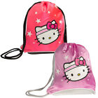 Sanrio Hello Kitty Sport Sack Pack Girls Sling Bag Backpack Tote Metallic Pink