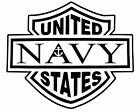 Two (2): USN sticker VINYL DECAL Navy Eagle Sheild Anchor Military