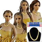 Bridesmaid Jewelry Yellow Graduated Lucite Beaded Necklaces For 3 4 6 or 8 Set