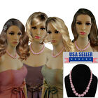 Bridesmaid Jewelry Pink Graduated Lucite Beaded Necklaces For 3 4 6 or 8 Set