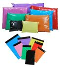 COLOURED PLASTIC STRONG MAILING POST POLY POSTAGE MAIL BAGS SELF SEAL MORE SIZES