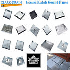Clark Drain Block Paving Pavior Recessed Manhole Cover & Frame All sizes Option!