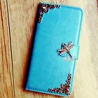 dragonfly phone - Dragonfly phone wallet Leather flip case Blue Card cover For Samsung S8 S9 plus