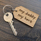 My Daddy My Hero - Fathers Day Keyring Daddy Birthday Christmas Gift Present
