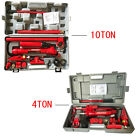 4 /10 Ton Porta Power Hydraulic Jack Body Frame Repair Kit Auto Shop Tool HD Set