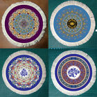 23cm/9'' Retro Persian Stylish Rug Mat Round Mouse Pads For Office Home Thick