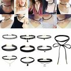 New Leather Lace Choker Charm Necklace Vintage Chocker Punk Retro Black Collar