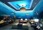 3D Undersea Shark View Entire Room Wallpaper Wall Murals Prints