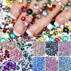 Crystal 3D Nail Decoration Flat Bottom Rhinestones For Acrylic UV Gel Nail Art