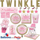 Twinkle Little Star Girls 1st Birthday Party Supplies Tablew