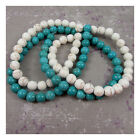 ROUND CRACKLED CHALKSTONE BEADS *2 COLOURS*5 SIZES* BEADING JEWELLERY MAKING