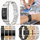 New Replacement Stainless Steel Metal Watch Band Wrist Strap For Fitbit Charge 2