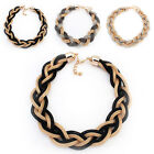 Fashion Retro Woven Statement Necklace Choker Collar Chain Jewelry For Women