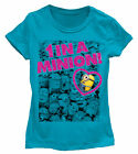 Despicable Me 2 - 1 In A Minion Girls Turquoise T-Shirt