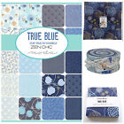 MODA True Blue100 % cotton, charm pack jelly roll layer cake for patchwork