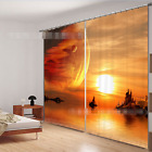 3D Sun river 52 Blockout Photo Curtain Printing Curtains Drapes Fabric Window AU