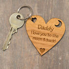I Love You To The Moon And Back Fathers Day Present Gift For Dad Daddy Keyring