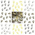 50 x Lobster Claw Clasp Silver & Gold Plated Bronze & Mixed