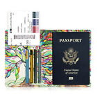 RFID Blocking Passport Holder Travel Wallet Leather Case Cover Securely Holds фото