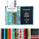 Travel - RFID Blocking Passport Holder Travel Wallet Leather Case Cover Securely Holds