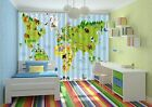 3D Zoo map 448 Blockout Photo Curtain Printing Curtains Drapes Fabric Window AU