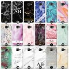 Personalised Marble Phone Case/Cover for Samsung Galaxy A Initial/Name/Custom