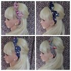 VINTAGE FLORAL ROSE PRINT COTTON FABRIC BOW HAIR BAND STRETCH HEAD WRAP RETRO