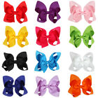 1pc Girl Kids Grosgrain Ribbon Big Bowknot Bow Hair Clip Hair Pin Accessories