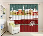 3D Snow House 03Blockout Photo Curtain Printing Curtains Drapes Fabric Window CA