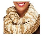 Collection 18 Two-Tone Knit Faux Fur Infinity Scarf A257315