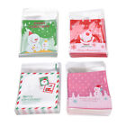 100xSelf Adhesive Cookie Candy Package Gift Bags Cellophane  Christmas BL