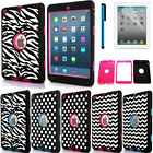 New Hybrid Shockproof Heavy Rubber Plastic 3 Layer Case Cover For iPad Mini 4