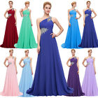 One Shoulder Long Chiffon Prom Party Evening Formal Cocktail Bridesmaid Pageant
