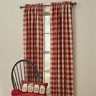"""Park Designs Wicklow Checked 84"""" Lined Panel Pair Window Curtains"""