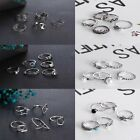 5Pcs/set Fashion Women Retro Band Midi Finger Knuckle Crystal Rings Lady Jewelry